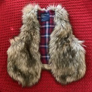 American Eagle Outfitters Faux Fur Vest